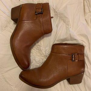 Cognac Leather Booties